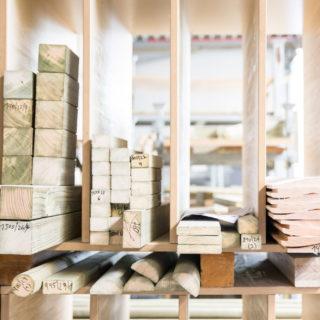 FSC®-Zertifizierung - Holzstapel aus Zuschnitten
