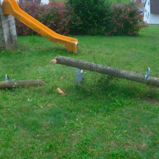 Holzspielplatz und seine Lebensdauer