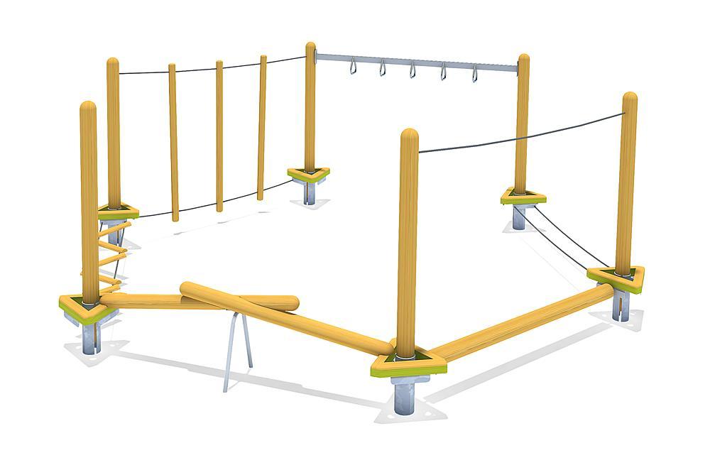 Hindernisparcours für Kinder –active trail Kombination 05 Balanceparcours
